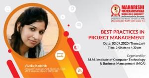 Webinar – Best Practices in Project Management