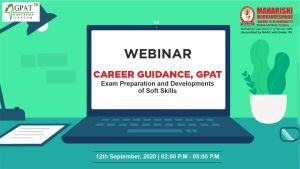 Webinar on Career Guidance – GPAT Exam Preparation & Development of Soft Sills