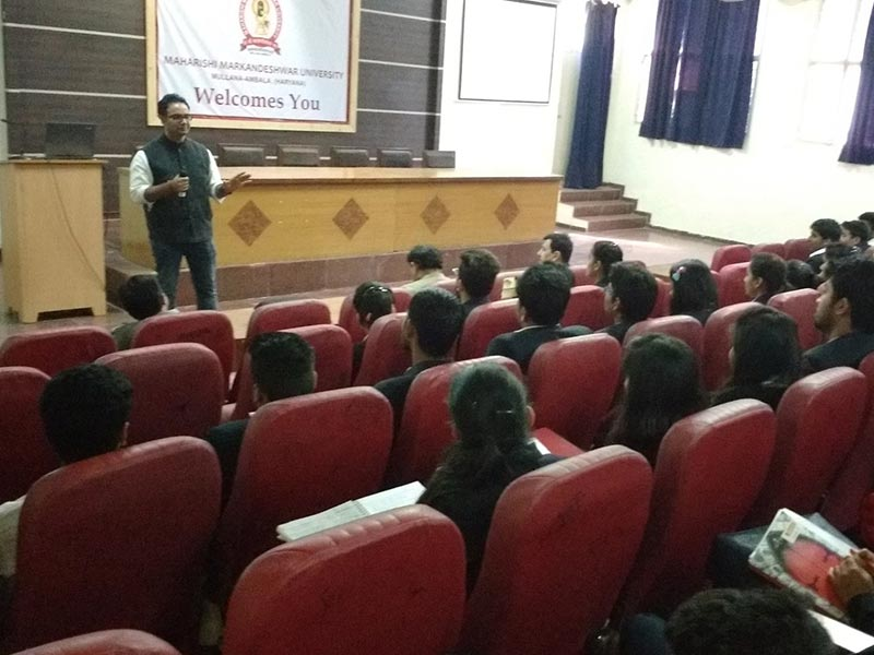 Seminar by Mr Vishal Sood