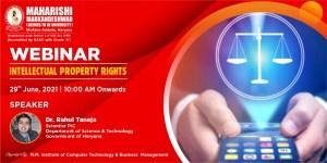 Webinar: Sensitization Program on Intellectual Property Rights