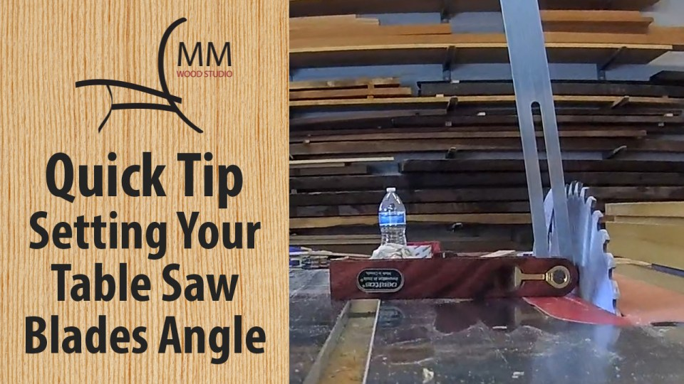 Mm wood studio videos quick tip setting your table saw blades angle keyboard keysfo Choice Image