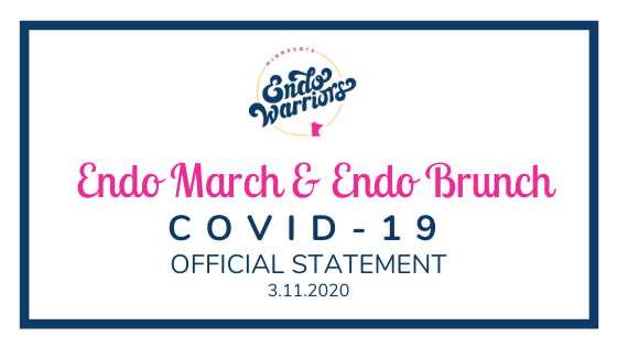 COVID-19 Endo March and Brunch Update