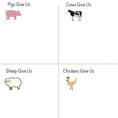 What Do Farm Animals Give Us? – Preschool