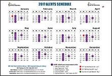 2017 Alert Schedule Horizontal
