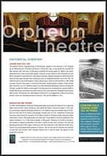 Orpheum Fact Sheet
