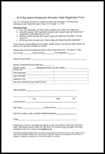 Education Day Homeschool Form