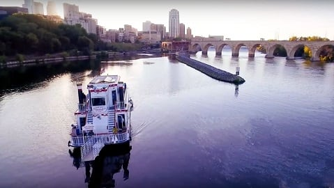Minneapolis Queen Paddleboat on Mississippi River