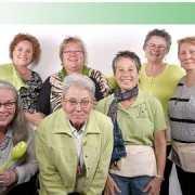 Group photo wearing green