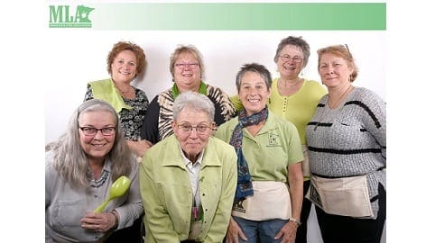 Group photo wearing green