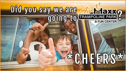 Happy kids on bus