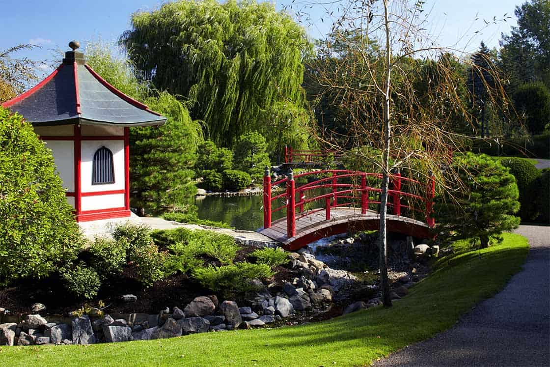 Bridge in garden
