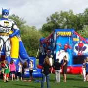 Superhero bouncy houses