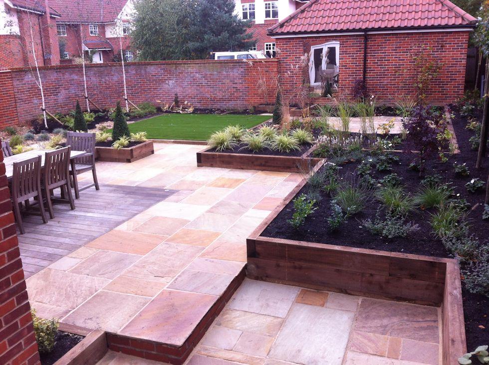 Completed Garden Designs, Landscaping, Garden Maintenance ... on Raised Patio Designs  id=93317