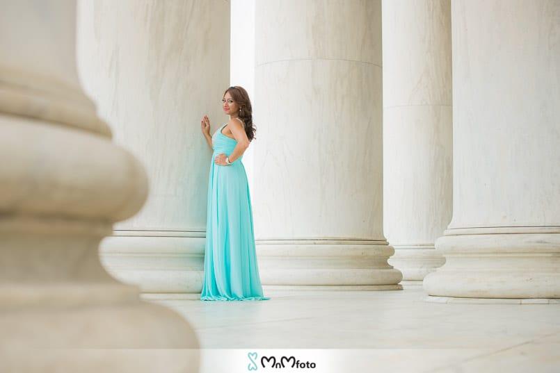 Washington DC Thomas Jefferson Memorial Engagement Photo