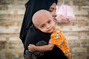 Rohingya refugees mother baby infant child