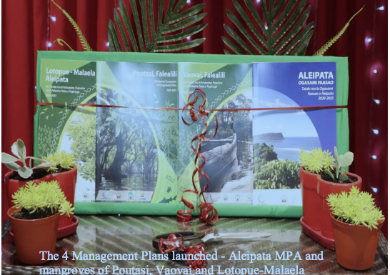 Aleipata and Falealili districts launched Management Plans to enhance the climate resilience of communities, and marine and coastal resources