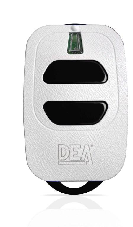 DEA HANDZENDER ROLLING CODE 2 KANAALS WIT 433Mhz GT2
