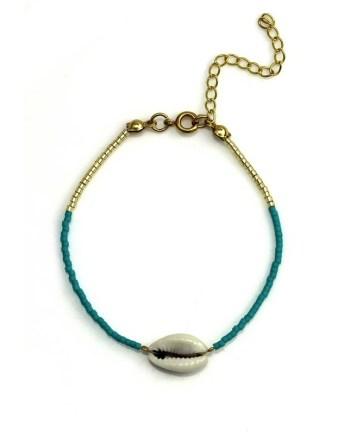 Miyuki bracelet turqoise - Gold - Shell