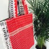 Keffiyeh shopper red print
