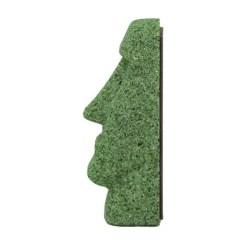 グリーンマグネットモアイ像
