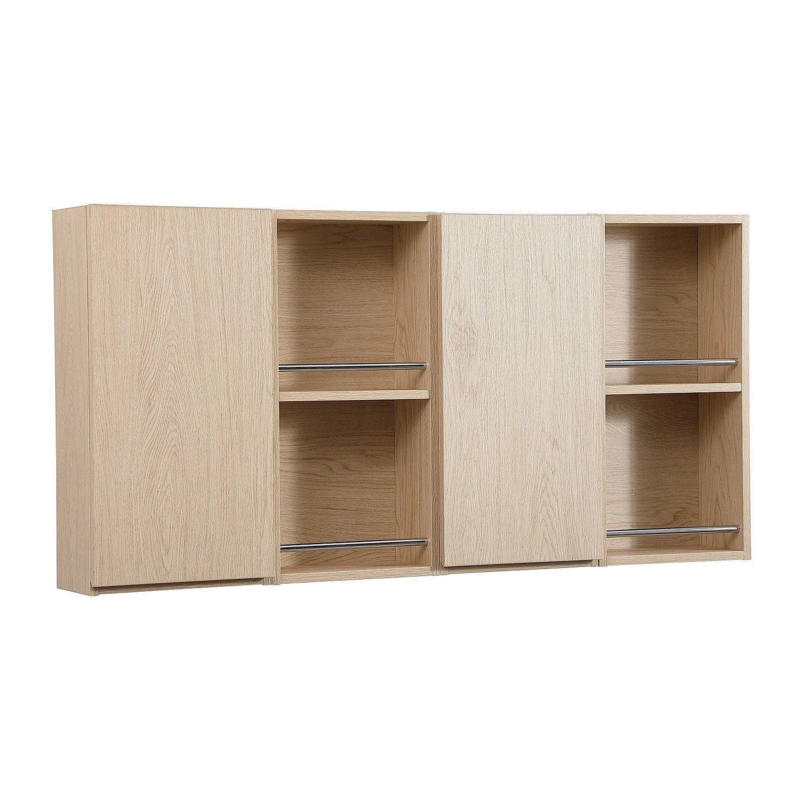 meuble de rangement suspendu will meuble haut salle de bain 1 porte decor chene ou blanc laque