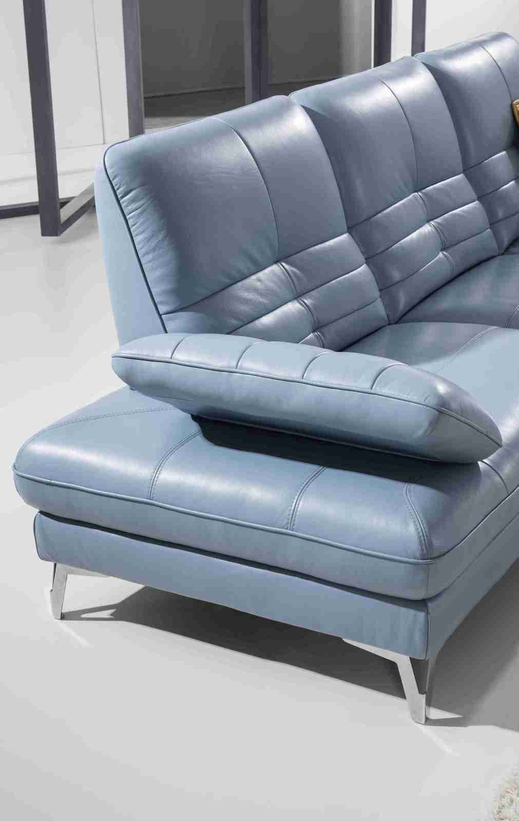 Horizon Leather Sofa With Chaise