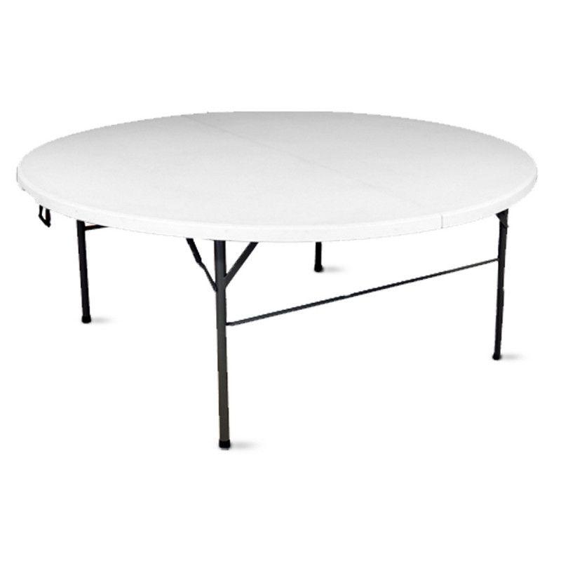 table pliante ronde 180cm pehd