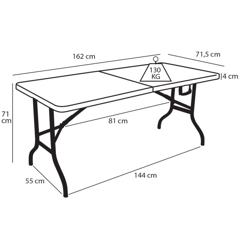 table pliante collectivite 6 places
