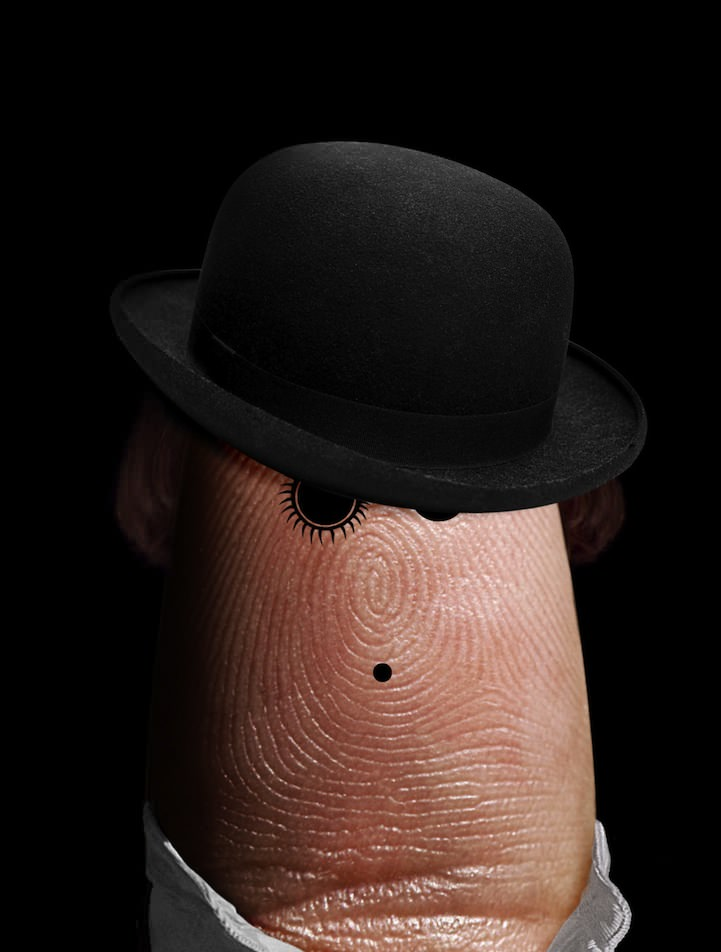 clockwork orange finger art