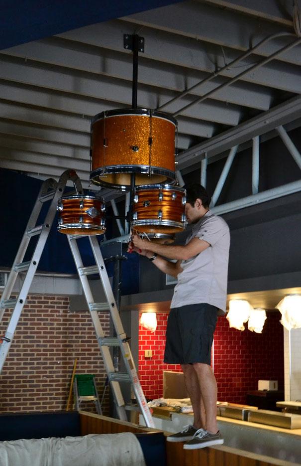 diy lampu drum set bekas 5