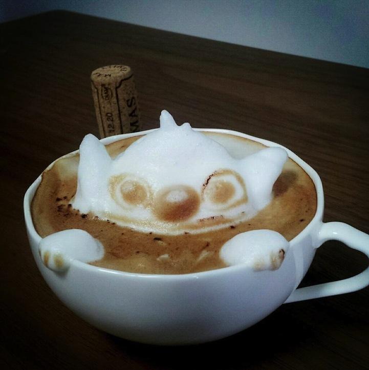 3d coffe latte art 4