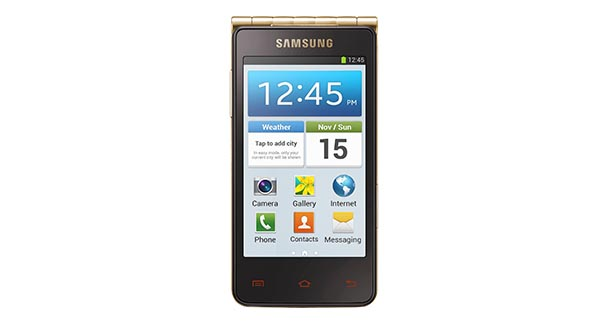 Samsung Galaxy Golden Front View