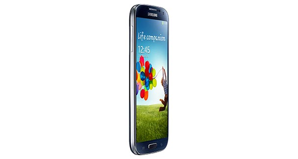 Samsung Galaxy S4 left view