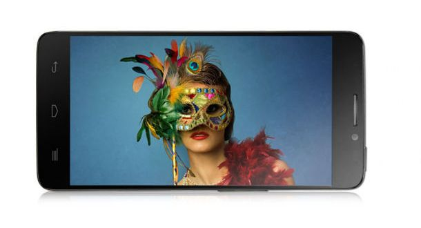Alcatel One Touch Idol X Front and Side View