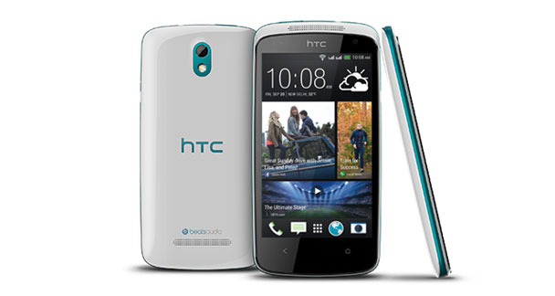HTC Desire 500 Front and Side View