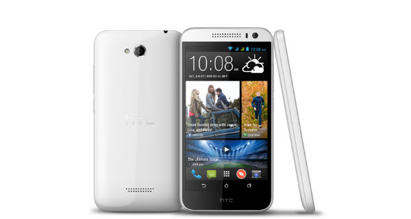HTC Desire 616 Dual SIM Front and Side View