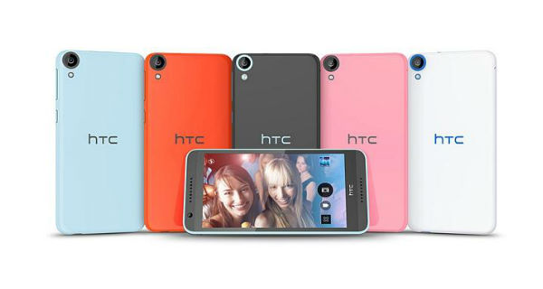 HTC Desire 820 Front and Back View