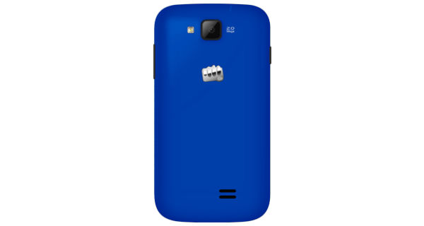 Micromax A63 Canvas Fun Back View