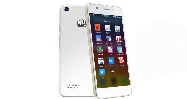 Micromax Canvas Hue Back and Front
