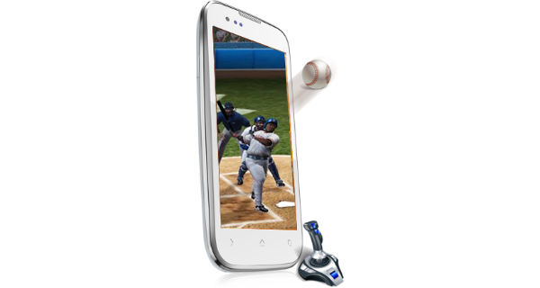 Micromax Canvas Music A88 Front and Side View