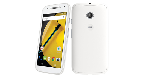 Motorola Moto E (2nd Gen) Front & Back View
