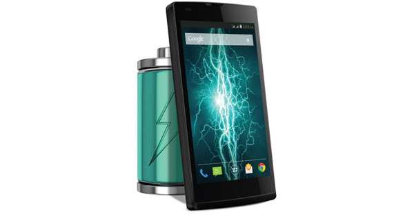 Lava Iris Fuel60 Front with battery