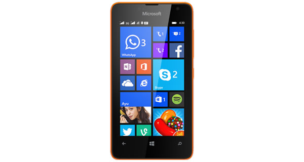Microsoft Lumia 430 Dual Front View
