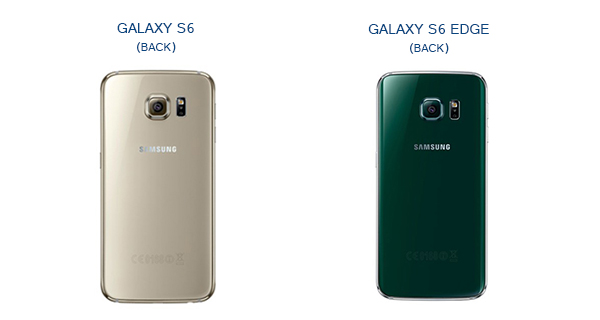 Samsung Galaxy S6 and S6 Edge Back View