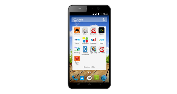 Micromax Canvas Play Q355 Front View