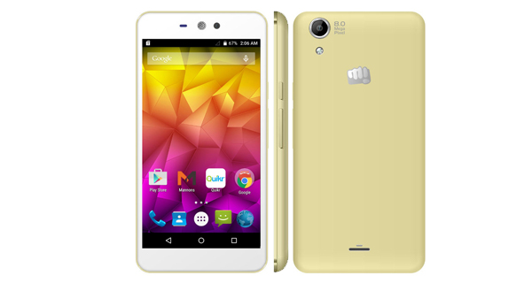 Micromax Canvas Selfie Lens Q345 Overall