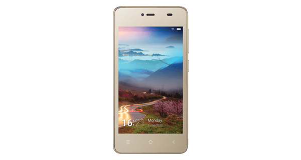 Gionee Pioneer P2M Front Golden