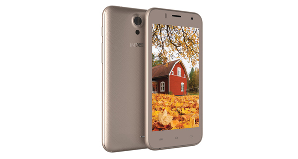 Intex Aqua Y4 Front and Back View