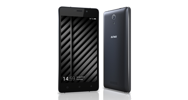 Gionee Marathon M4 Front and Back View