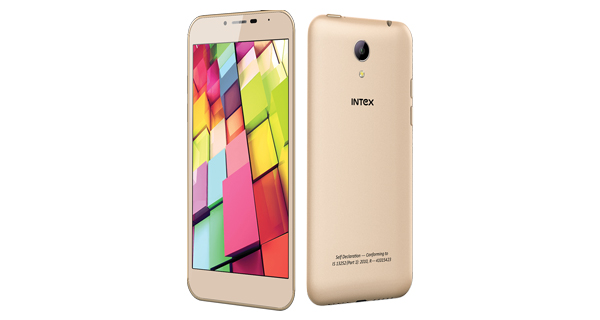 Intex Cloud 4G Star Front and Back View